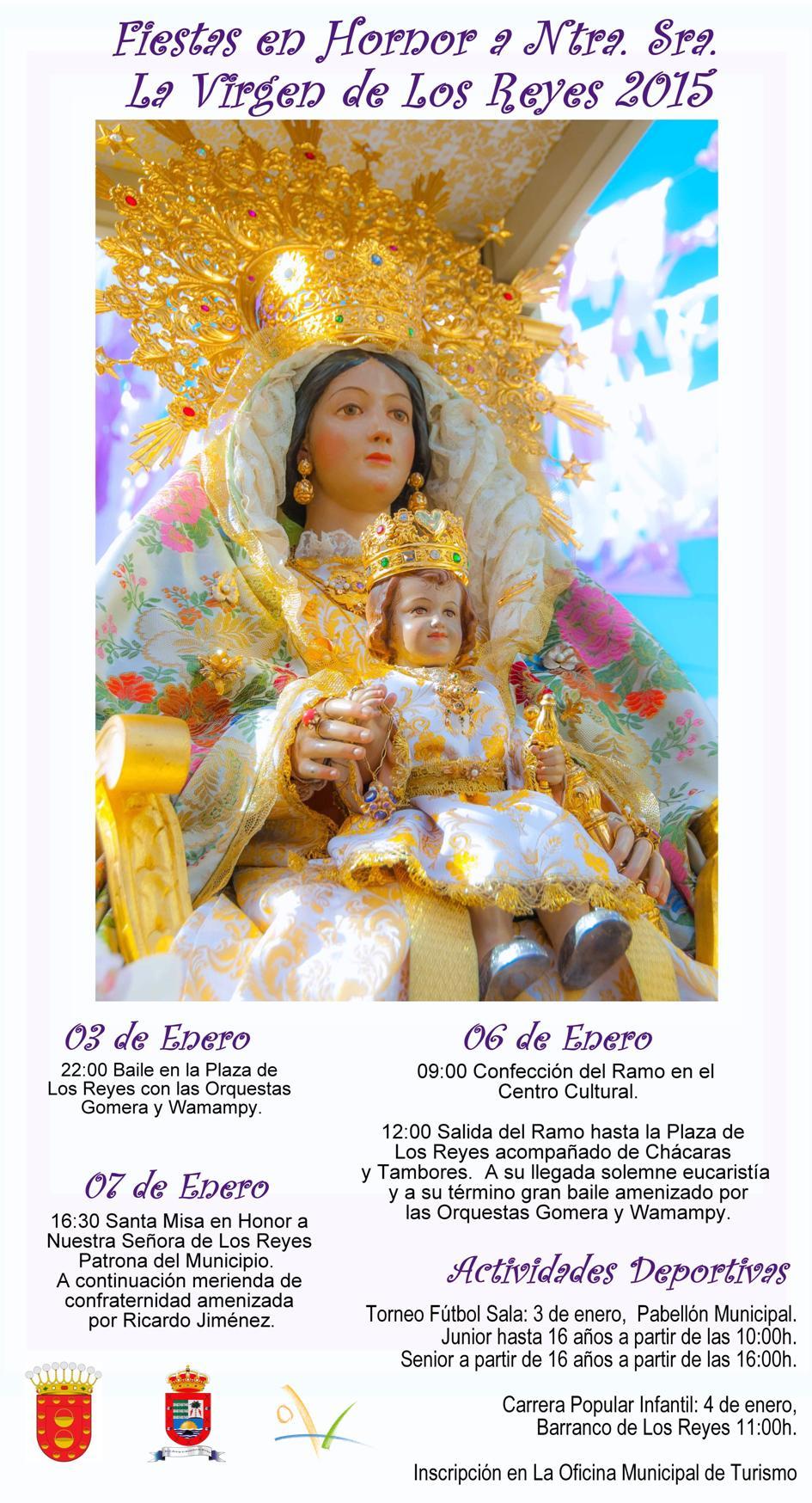 Cartel Programa de La Fiestas de Los Reyes 2015
