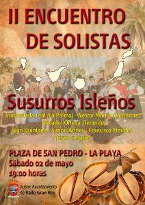 Cartel II Encuento de Solistas.