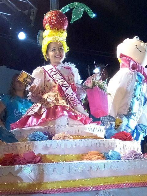Carla Yanes, Reina Infantil del Carnaval de Egipto de Valle Gran Rey 2016