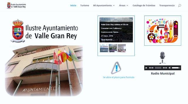 El Ayuntamiento de Valle Gran Rey renueva su página web e incorpora una completa agenda de actividades formativas y de ocio.