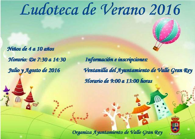 El Ayuntamiento de Valle Gran Rey abre el plazo de inscripción para la ludoteca de verano.