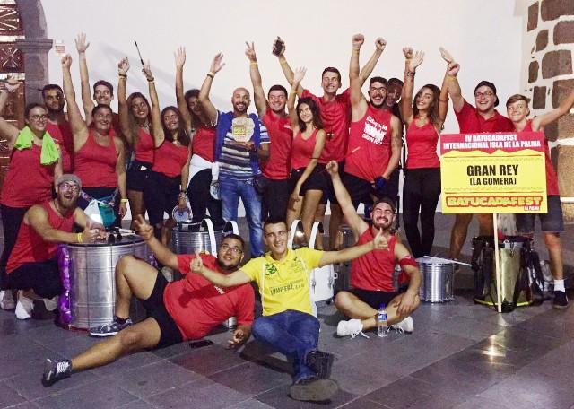 El Ayuntamiento felicita a la Batucada  Gran Rey por el Primer Premio logrado en el IV Festival Regional de Batucada.