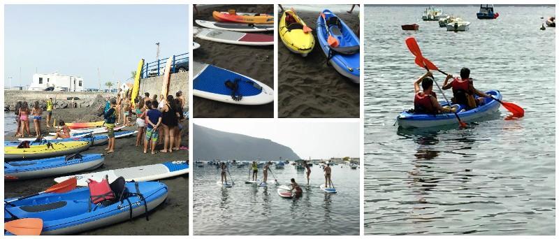 Más de 50 jóvenes participan en la jornada náutica celebrada en Valle Gran Rey.