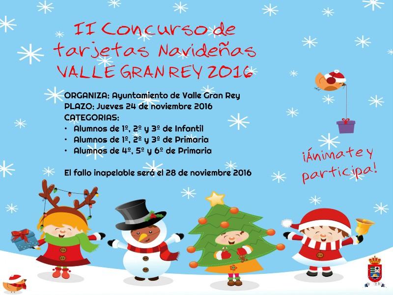 El Ayuntamiento anima a los escolares de Valle Gran Rey a diseñar la tarjeta para felicitar la Navidad.