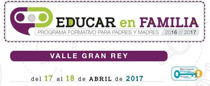 El programa Educar en Familia llega el lunes a Valle Gran Rey para fomentar la comunicación entre padres e hijos.