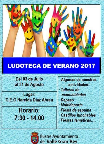 El Ayuntamiento de Valle Gran Rey organiza una nueva edición de la Ludoteca de Verano para ayudar a conciliar la vida familiar y laboral.