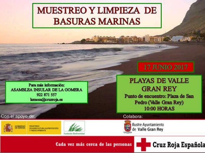 Limpieza de basuras marinas en Valle Gran Rey el próximo sábado 17 de junio 2017.