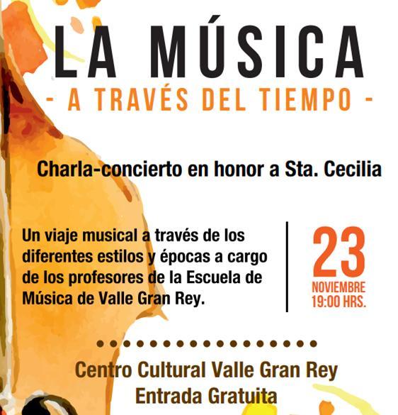 La escuela de música de Valle Gran Rey celebra esta semana su charla-concierto homenaje a Santa Cecilia.
