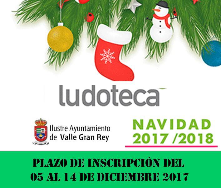 El Ayuntamiento de Valle Gran Rey abre el plazo para participar en la ludoteca de Navidad 2017_2018